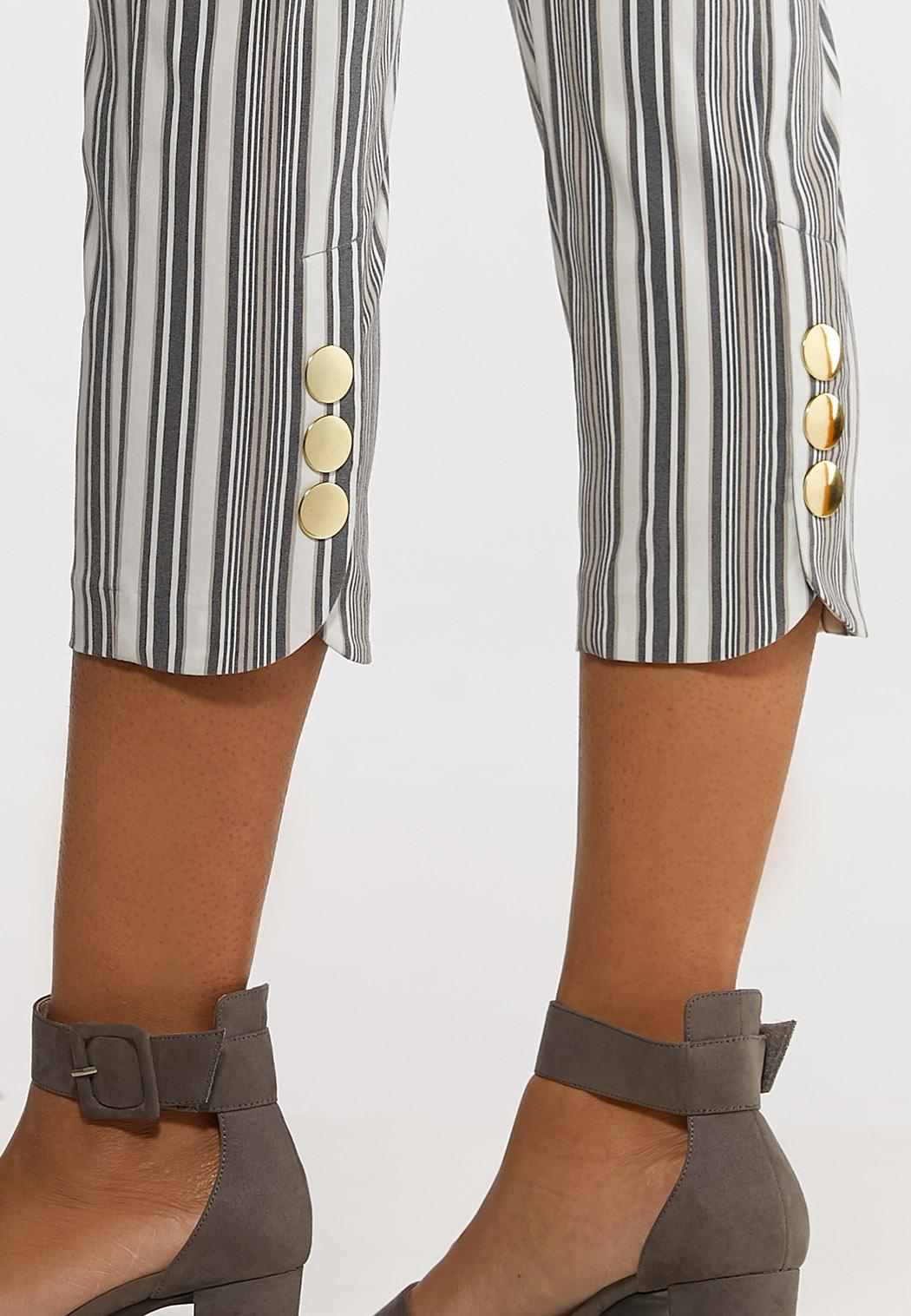 Striped Cropped Pants (Item #44172081)