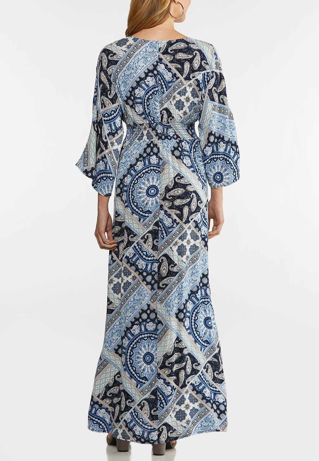 Patchwork Paisley Maxi Dress (Item #44172486)