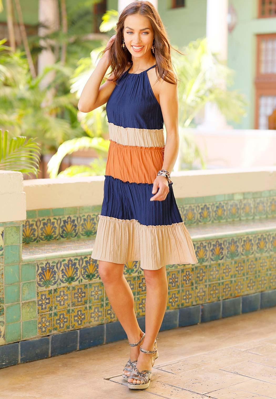Colorblock Swing Dress (Item #44172794)