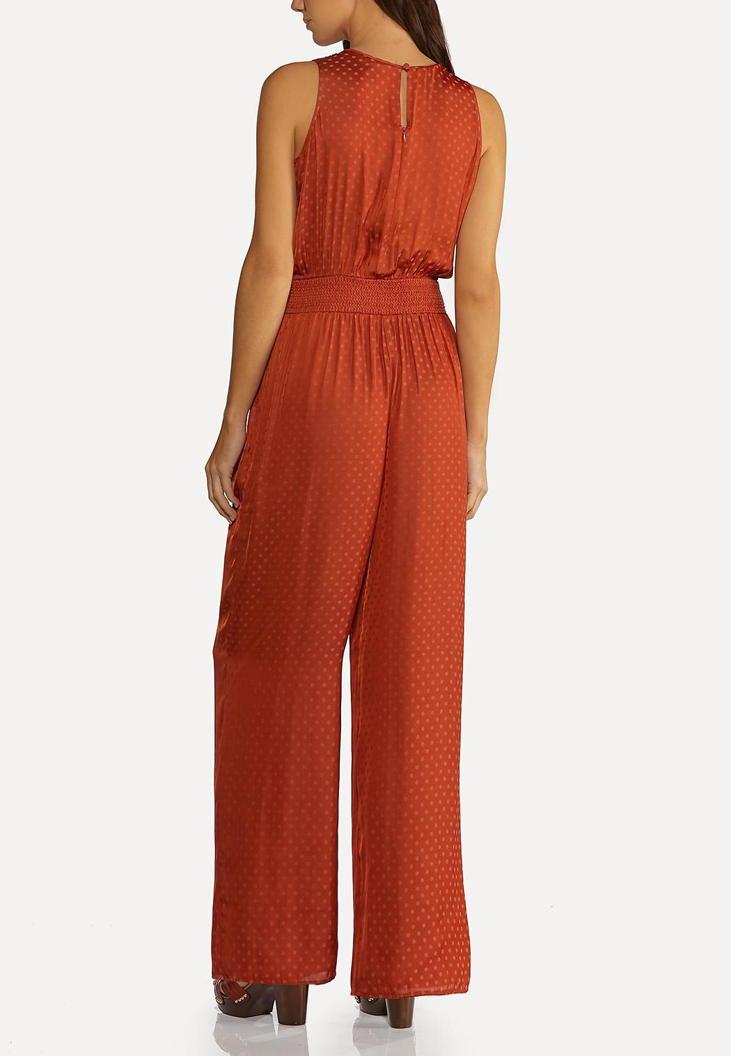 Petite Silky Dotted Jumpsuit (Item #44173032)
