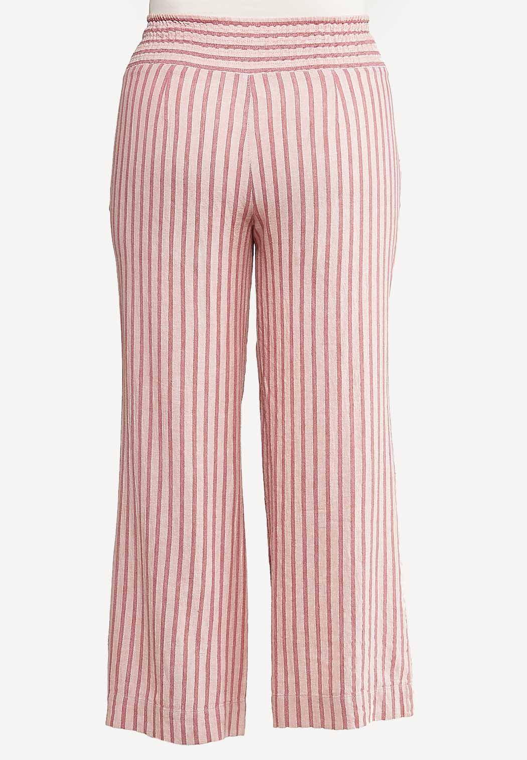 Plus Size Cotton Candy Stripe Pants (Item #44173639)
