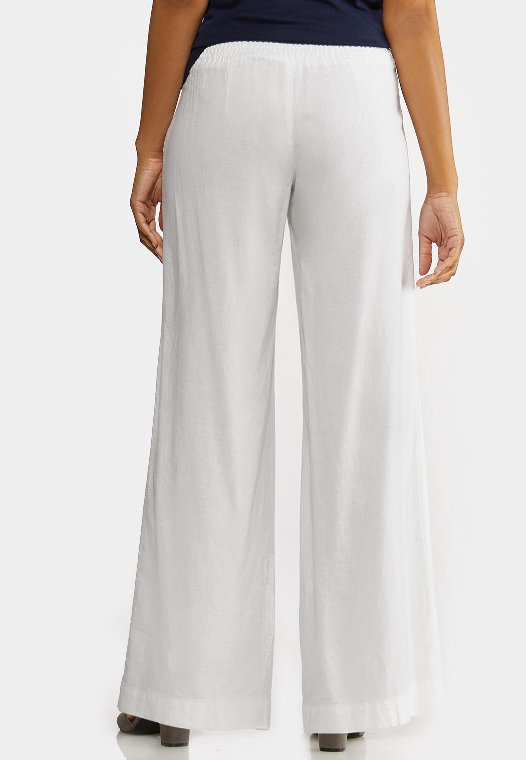 Pull-On Linen Pants (Item #44174177)