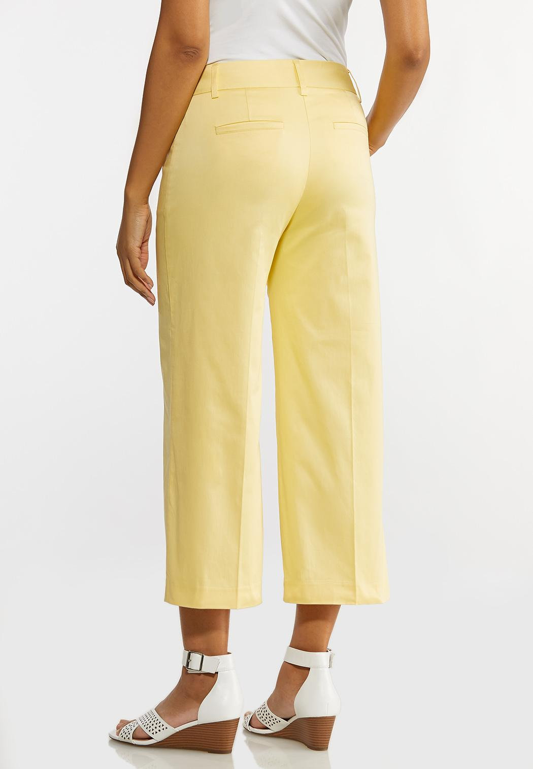 Solid Cropped Sateen Pants (Item #44174775)