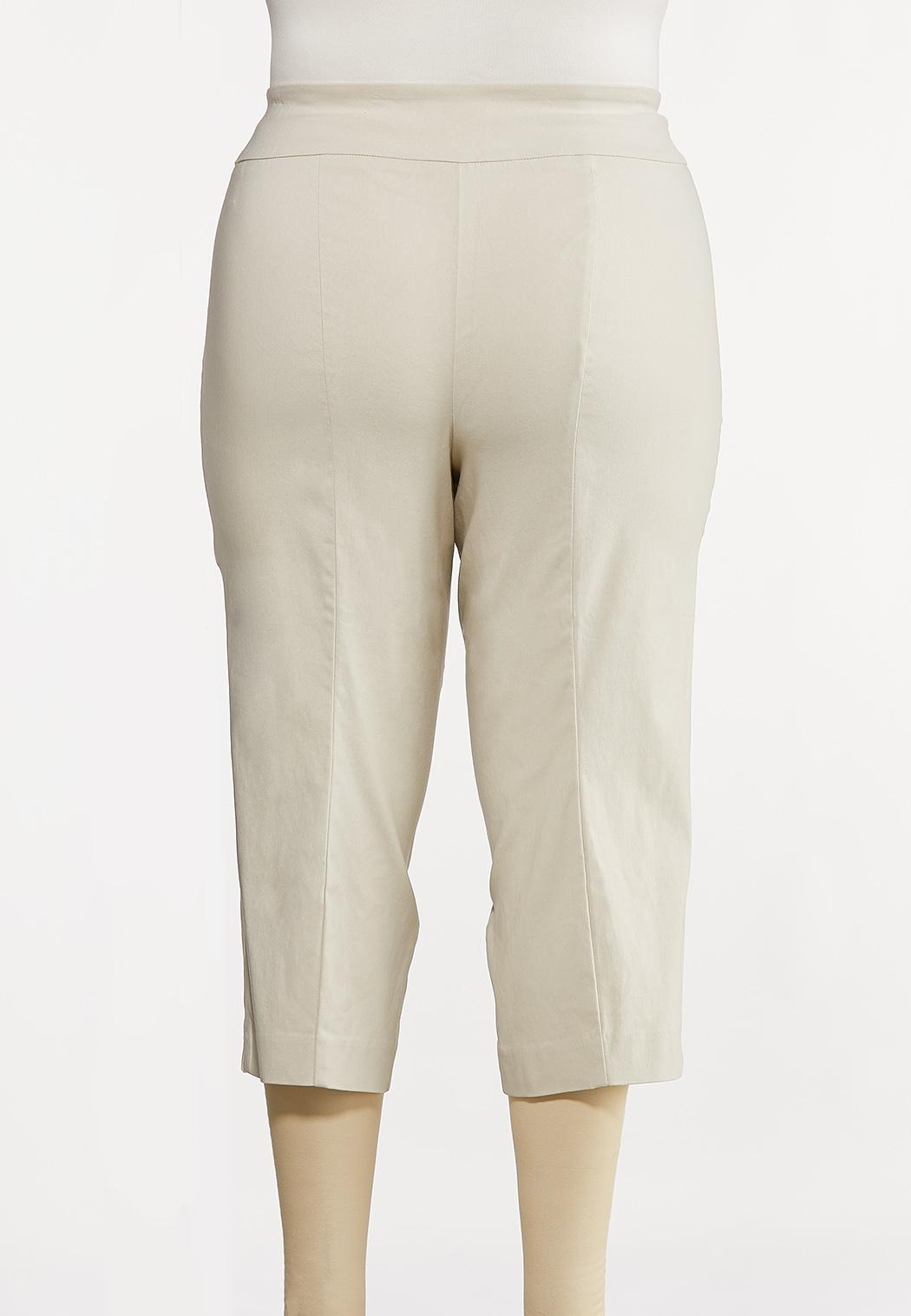 Plus Size Cropped Bengaline Pants (Item #44175397)