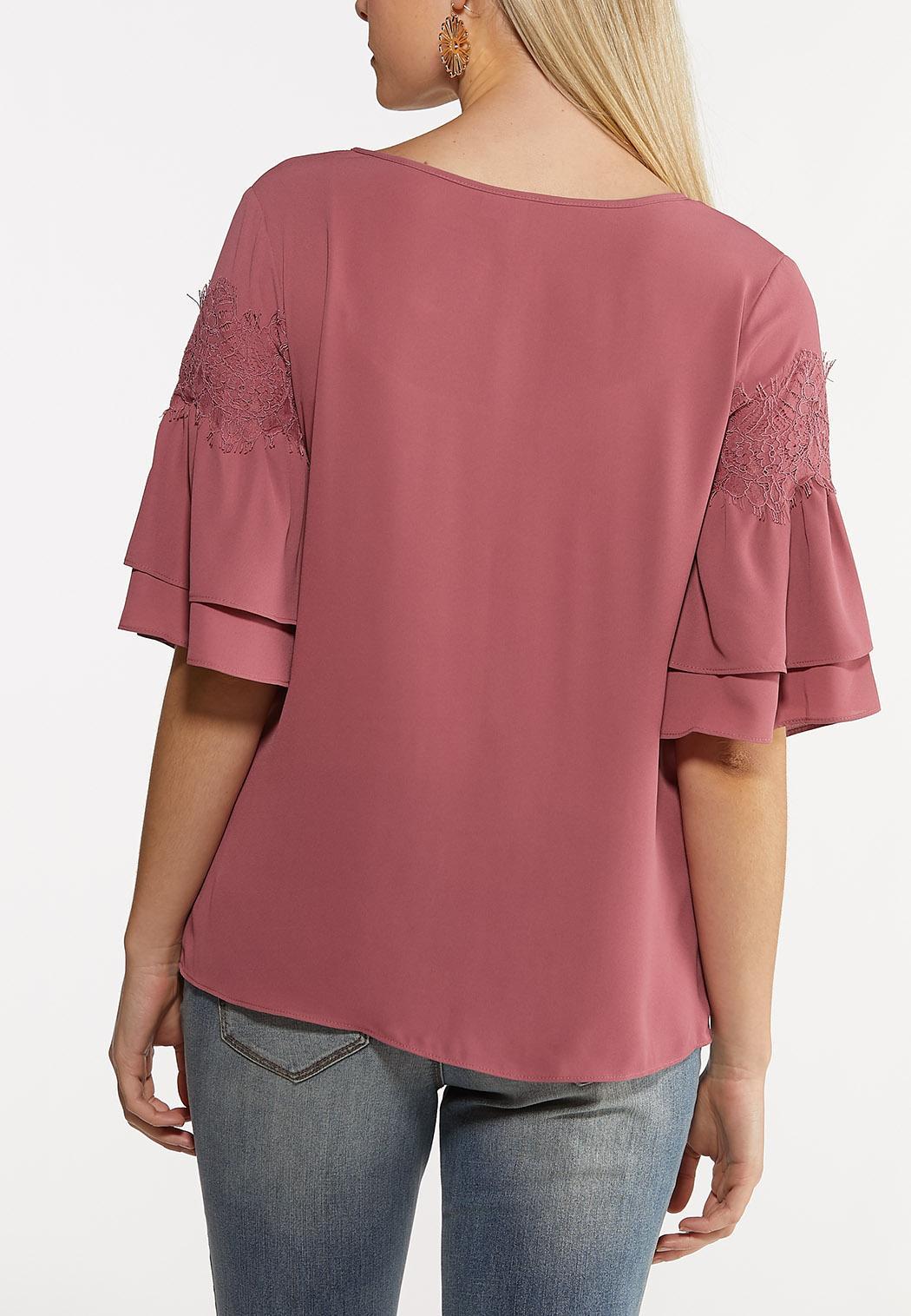 Ruffled Lace Sleeve Top (Item #44176326)