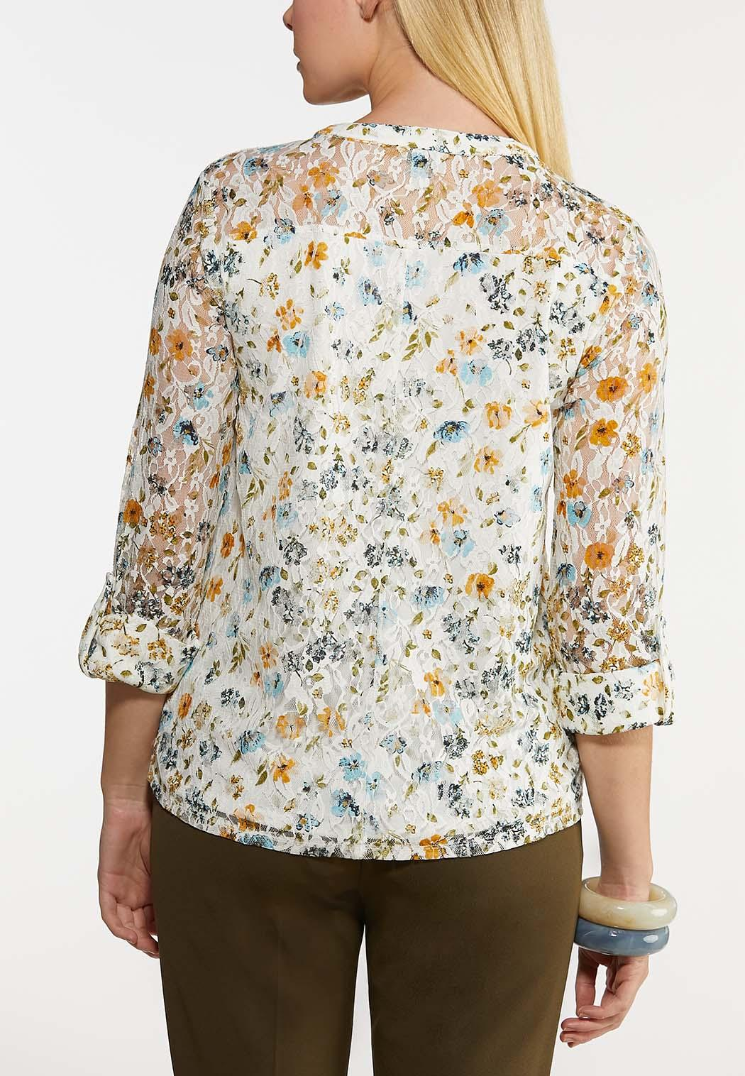 Floral Lace Pullover Top (Item #44177647)