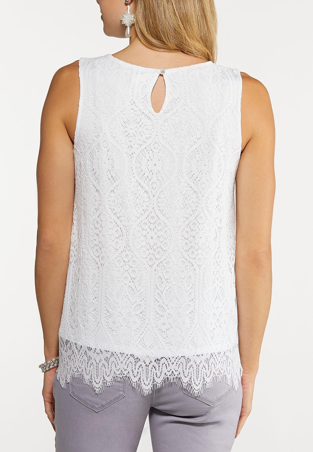 Scalloped Lace Tank (Item #44177752)