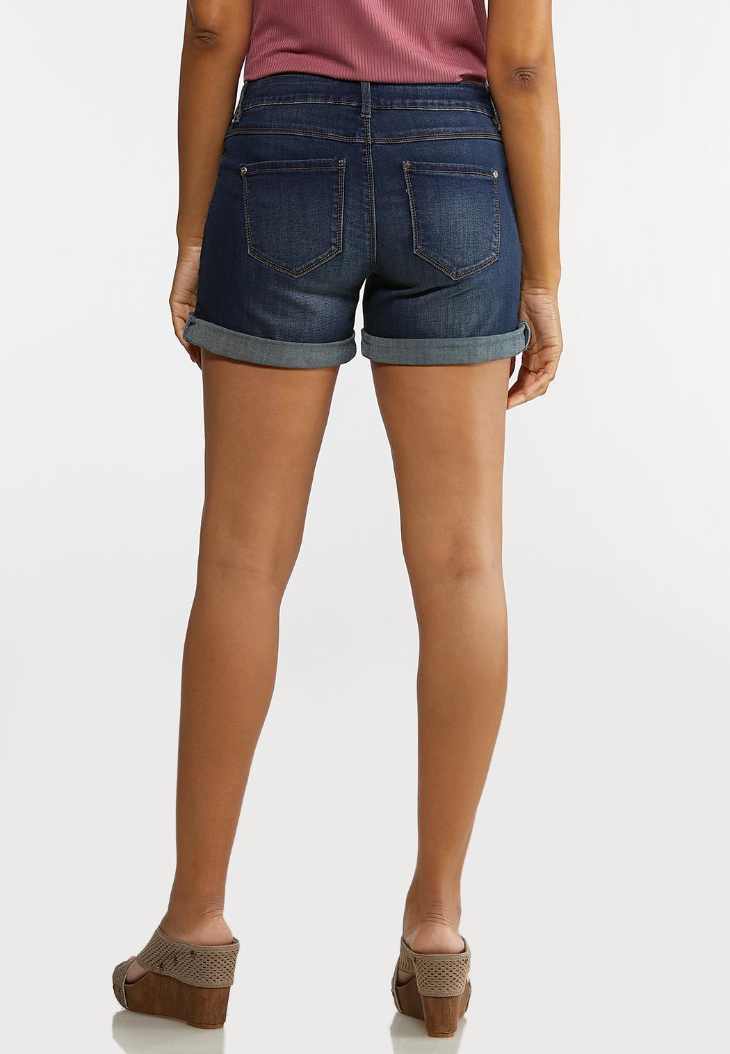 Dark Wash Denim Shorts (Item #44179519)