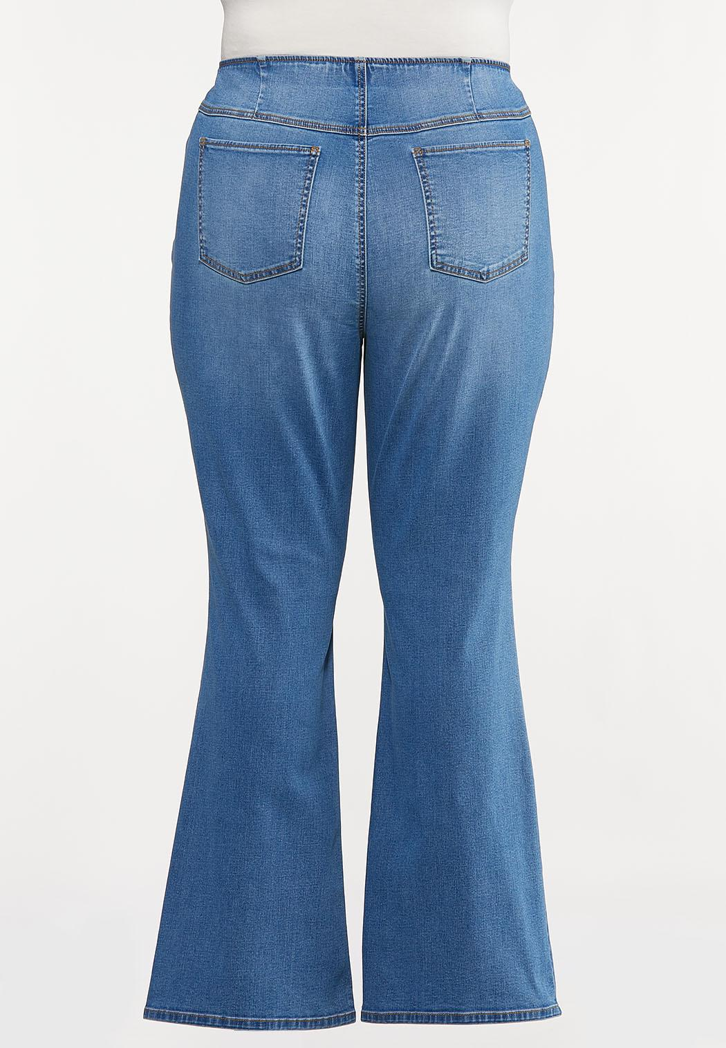 Plus Size Pull-On Flare Jeans (Item #44180284)