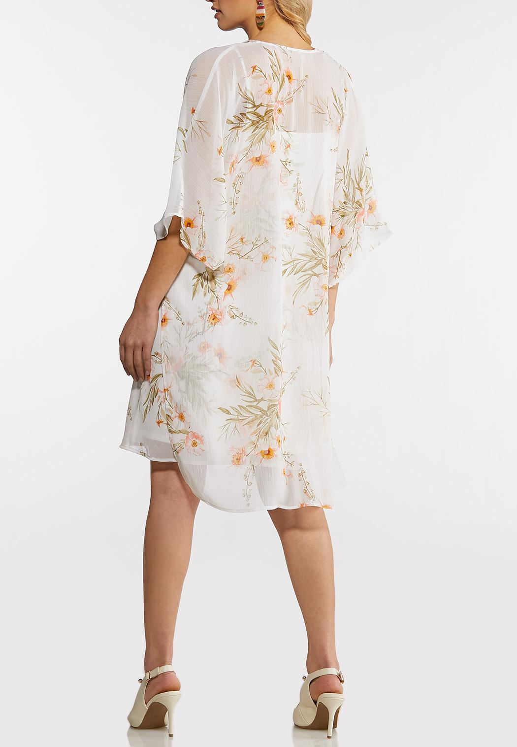 Crepe Kimono Slip Dress (Item #44180899)