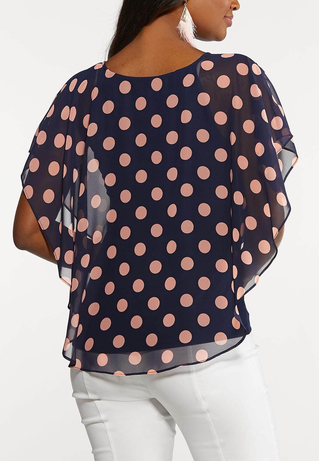 Polka Dotted Capelet  (Item #44181242)