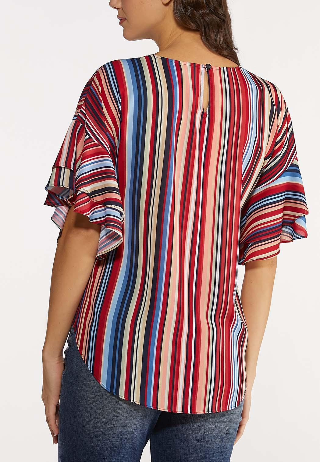 Double Ruffle Stripe Top (Item #44181499)
