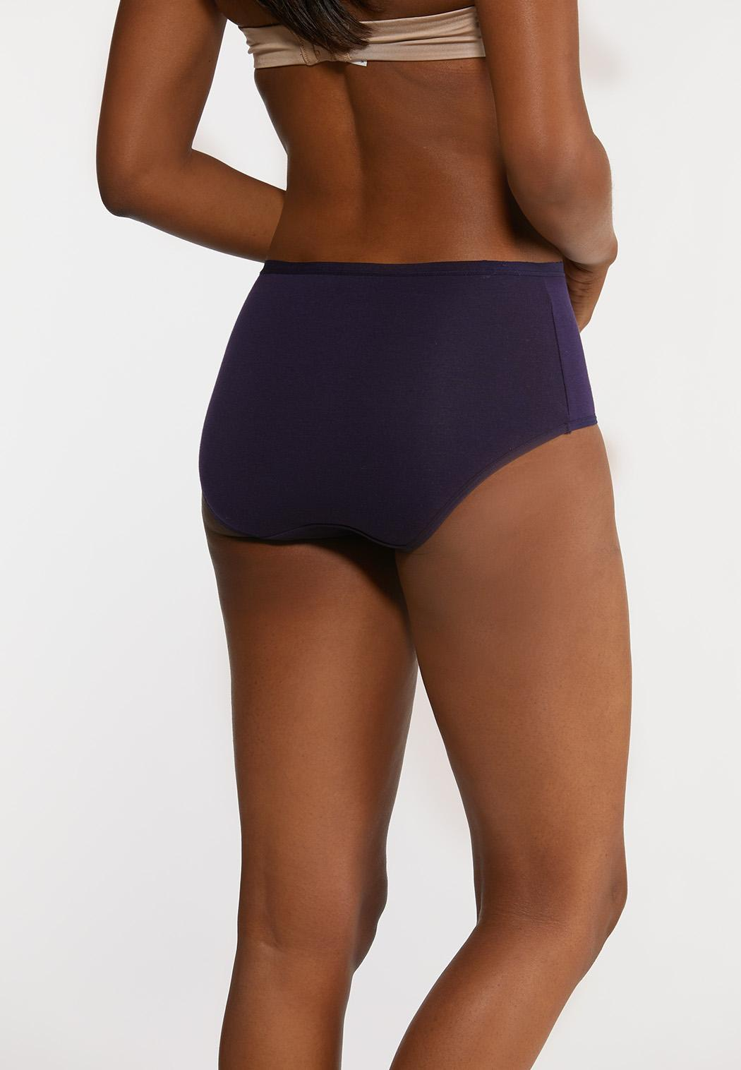 Plus Size High Waist Navy Panty Set (Item #44181565)