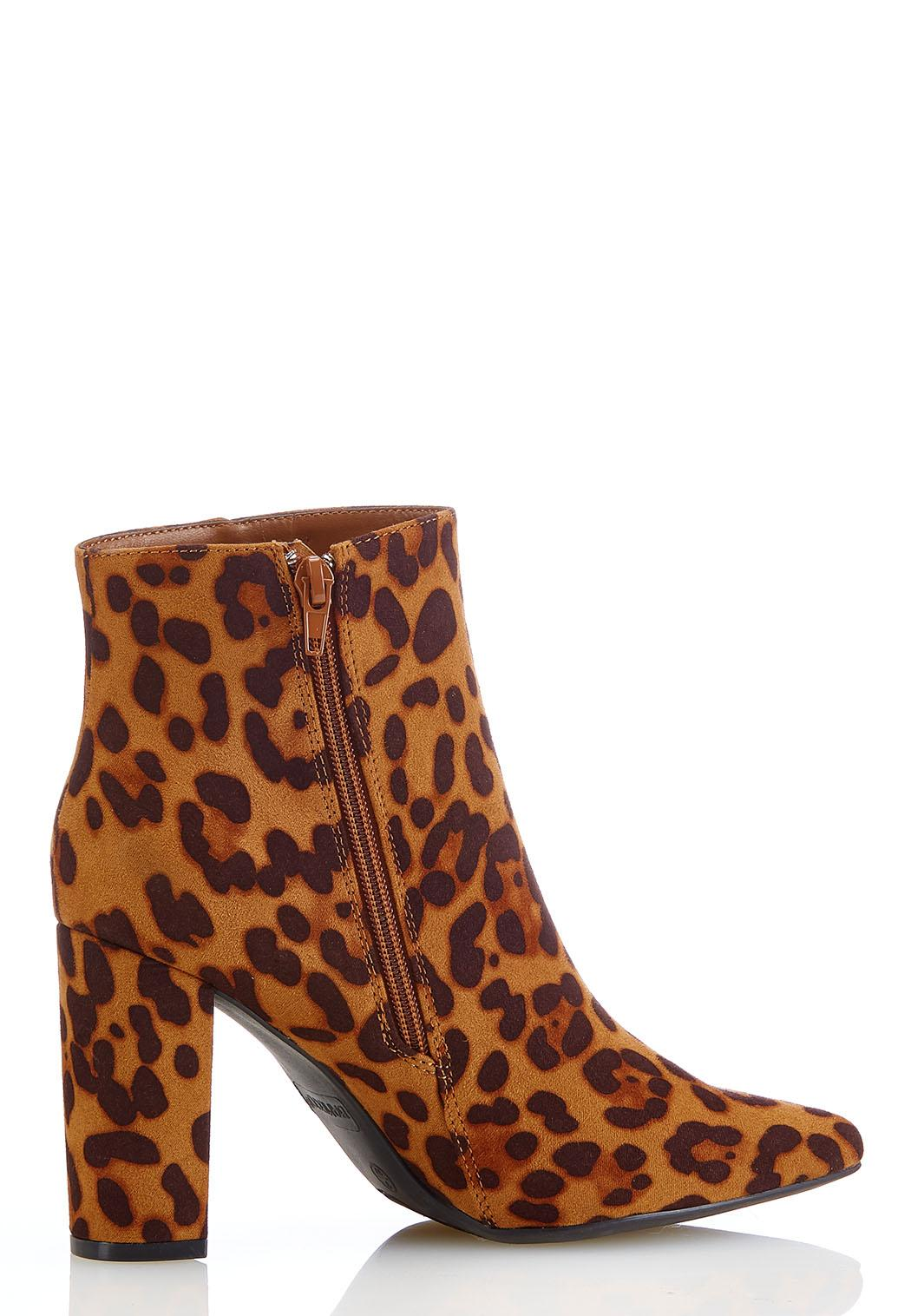 Leopard Pointy Toe Booties (Item #44181988)