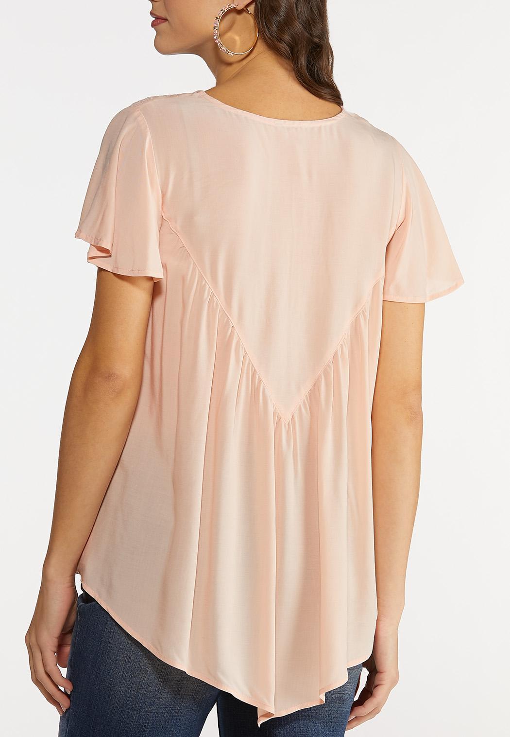 Blush Flutter Sleeve Top (Item #44182403)