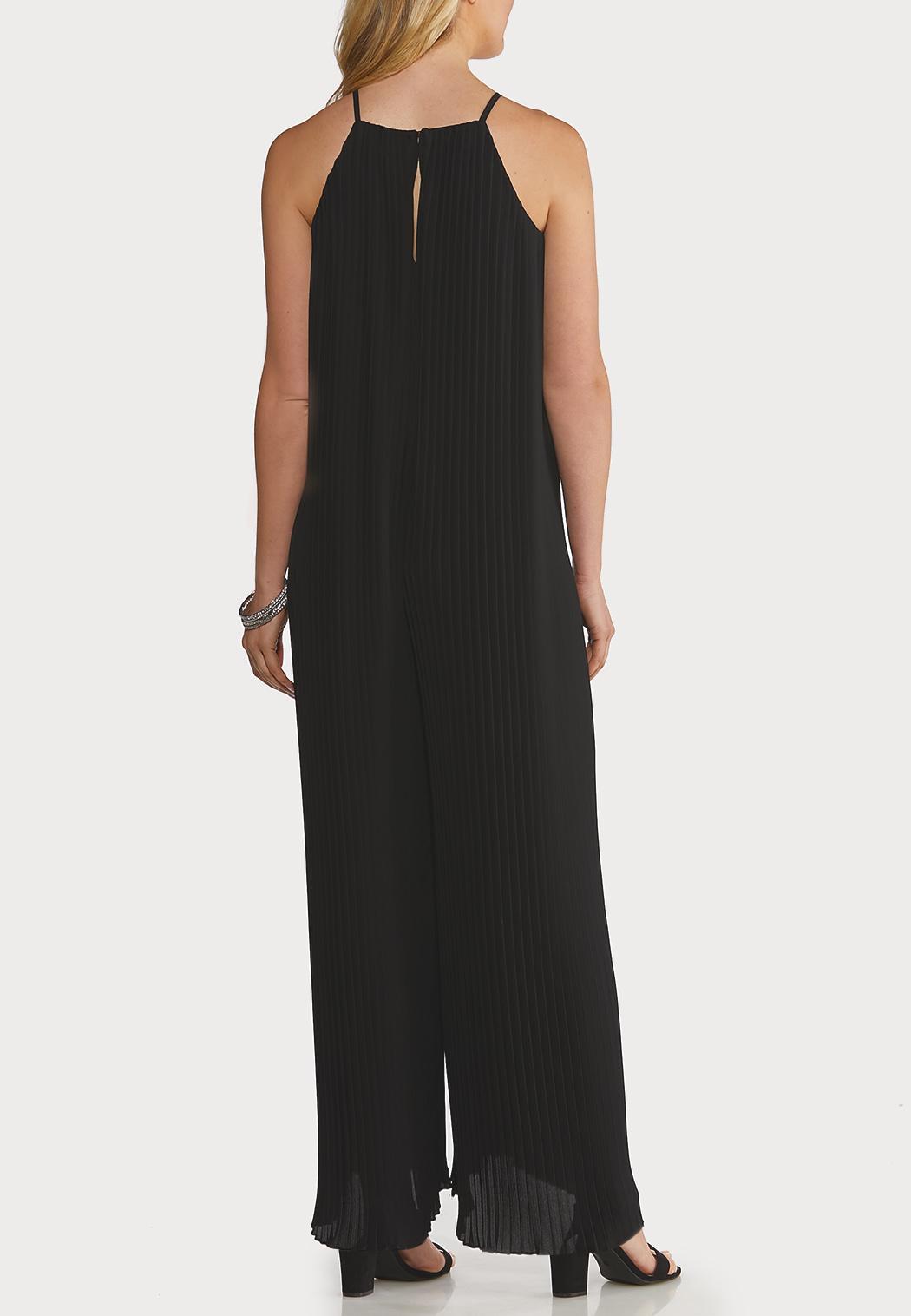 Plus Size Black Pleated Jumpsuit (Item #44182449)