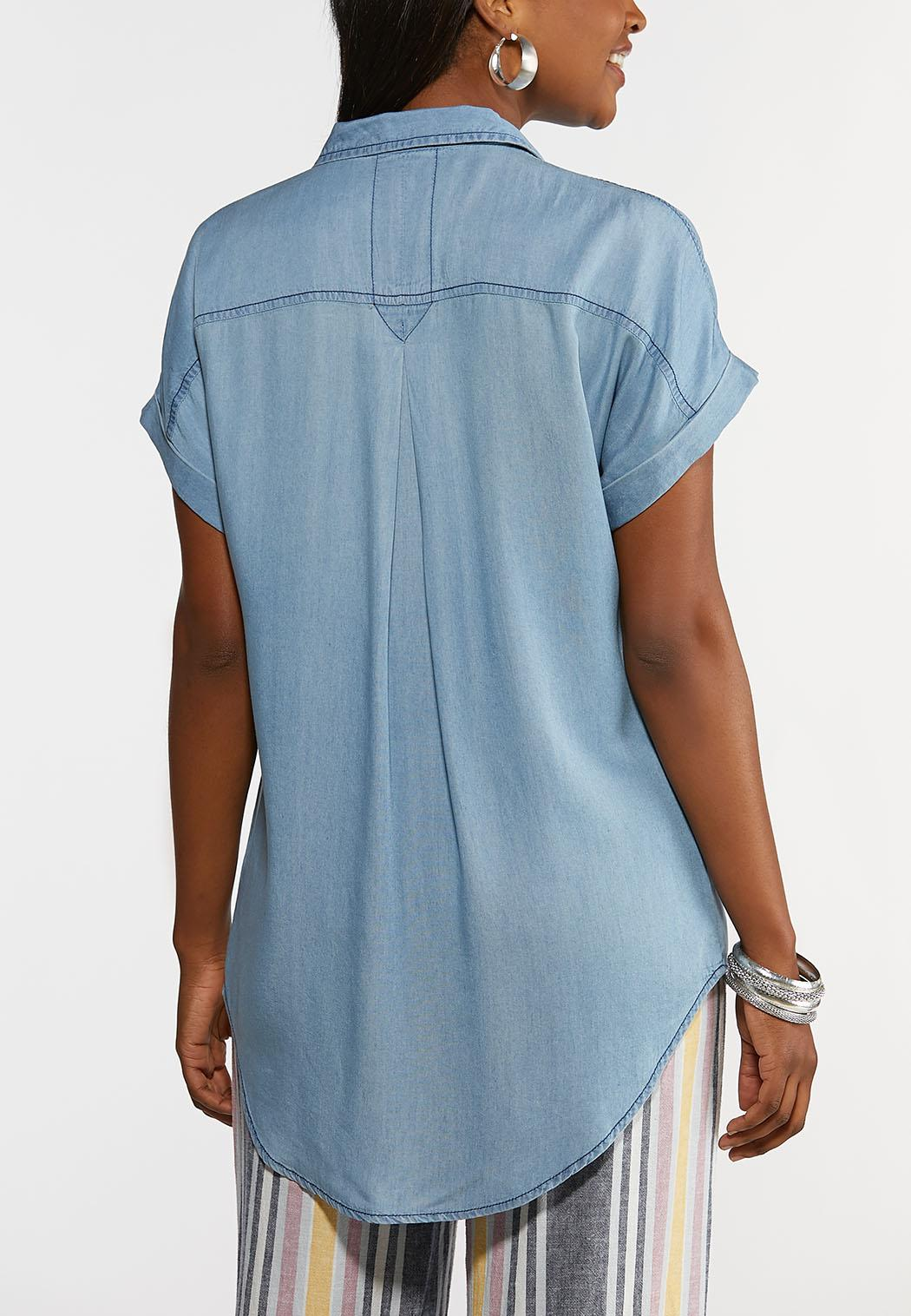 Chambray Roll Sleeve Shirt (Item #44182493)