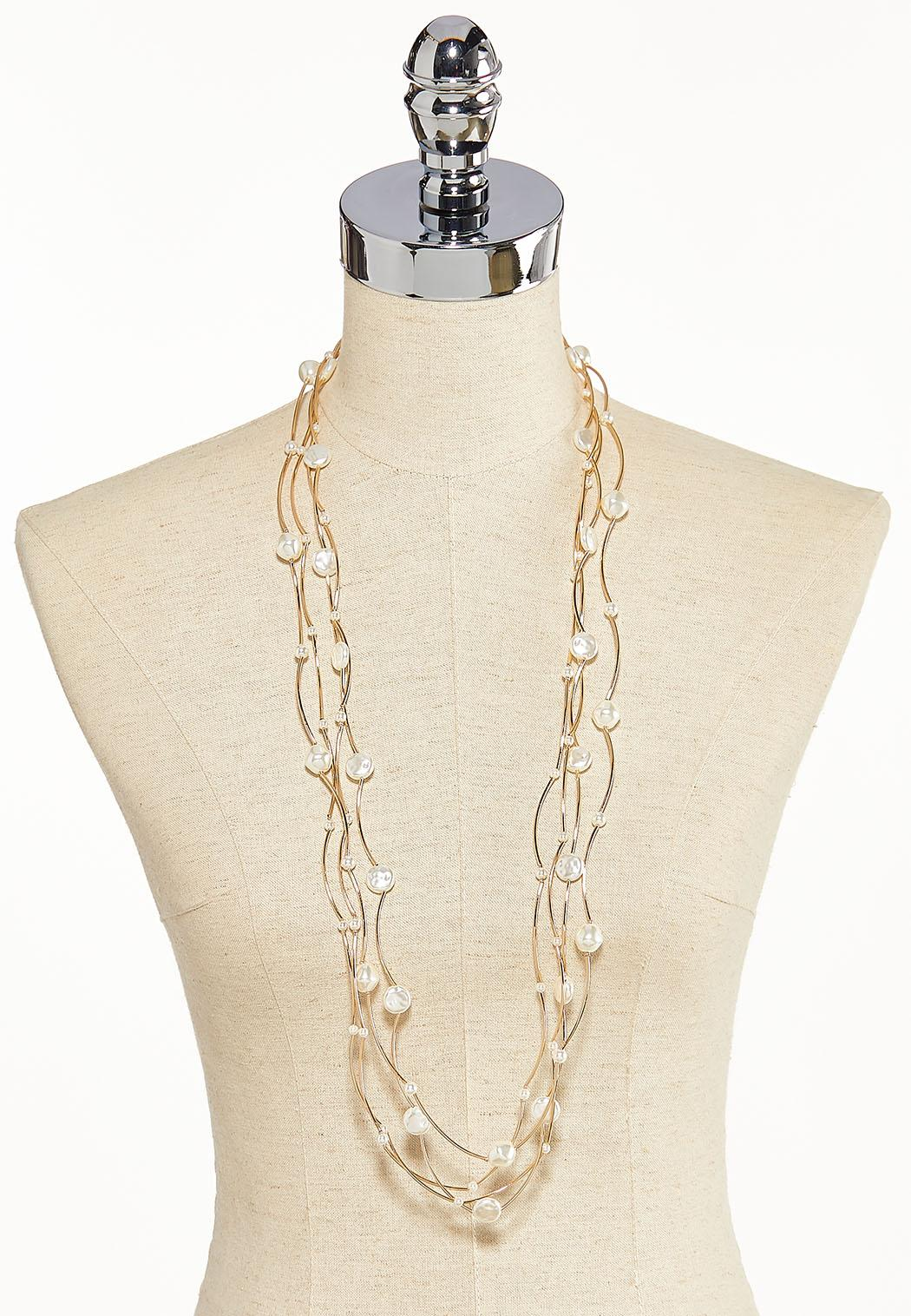 Floating Pearl Layered Necklace (Item #44184370)