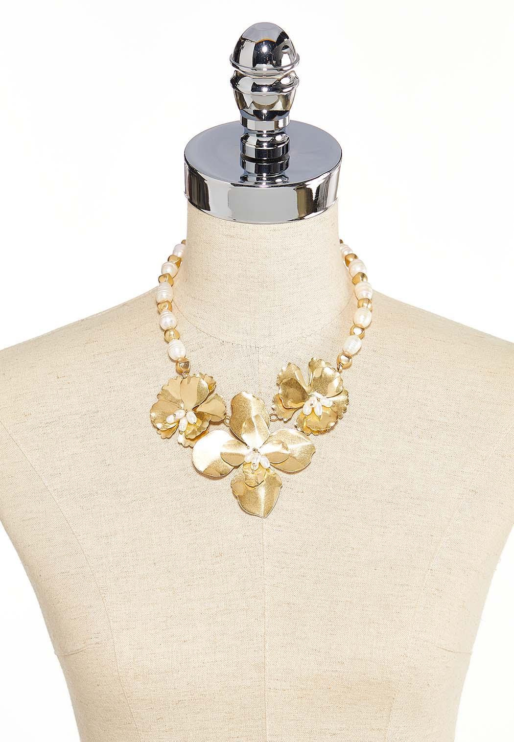 Statement Flower Bib Necklace (Item #44184418)