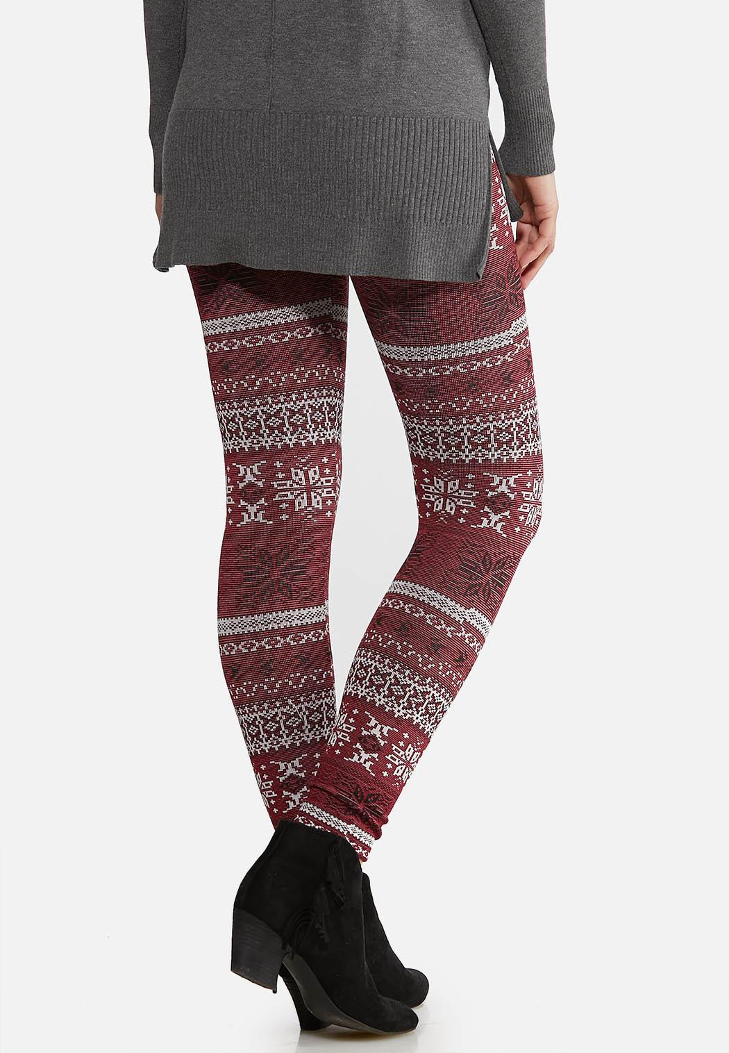 Fair Isle Fleece Leggings (Item #44184599)