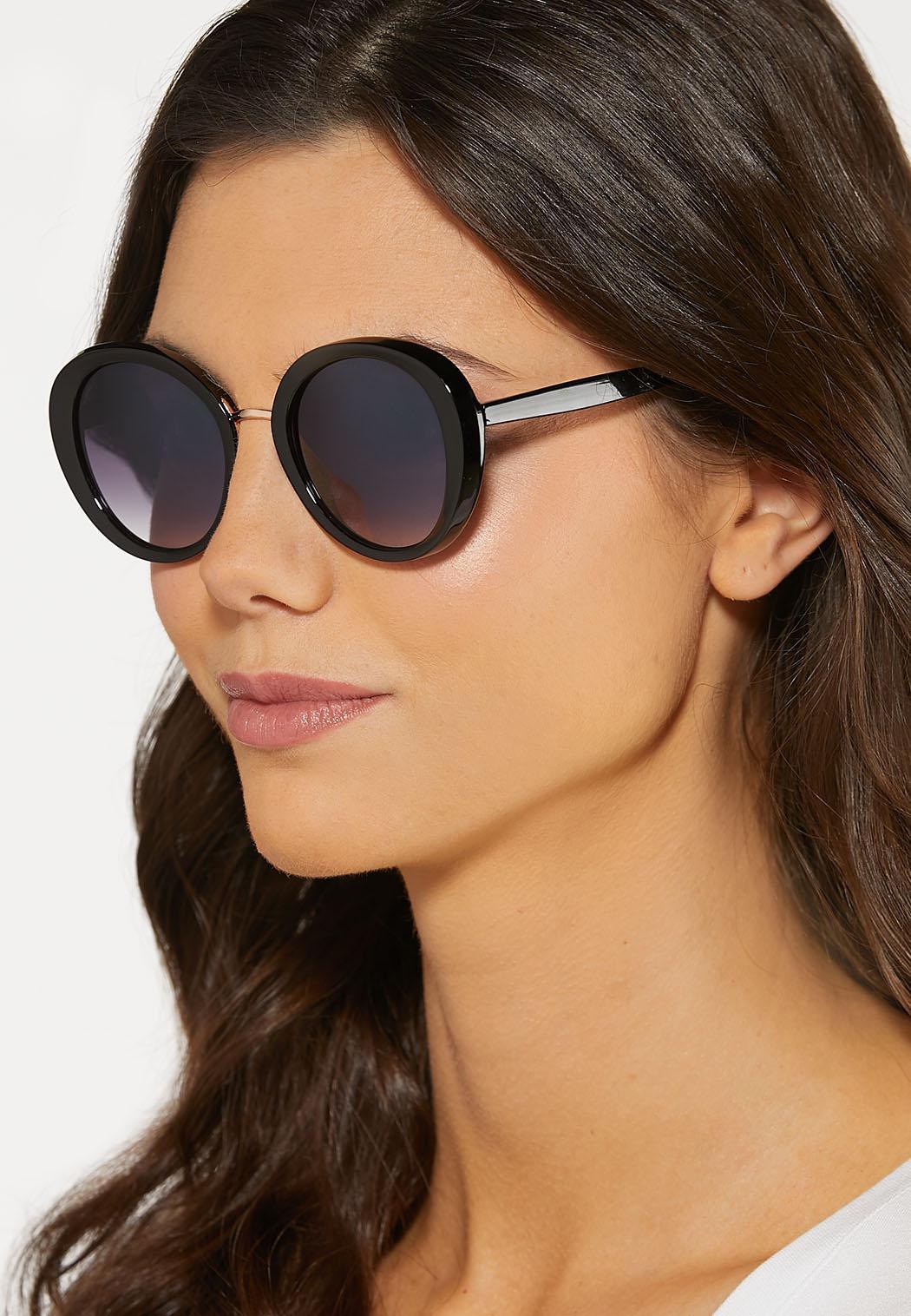 Classic Black Round Sunglasses (Item #44184937)