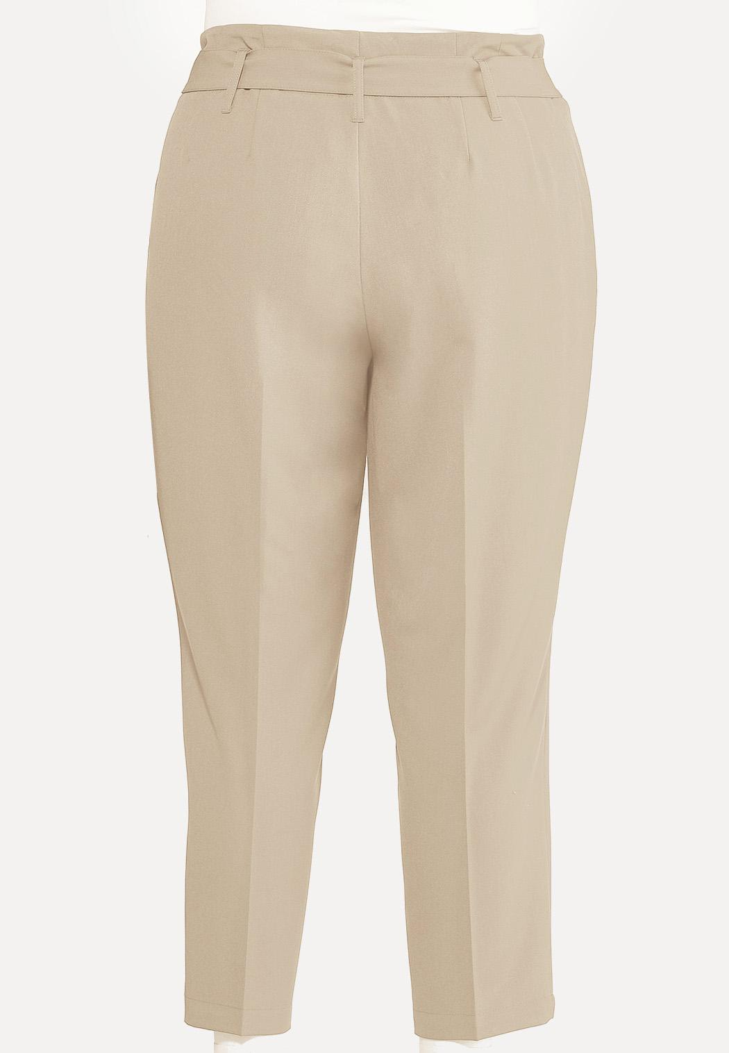 Plus Size Paperbag Trousers (Item #44185076)