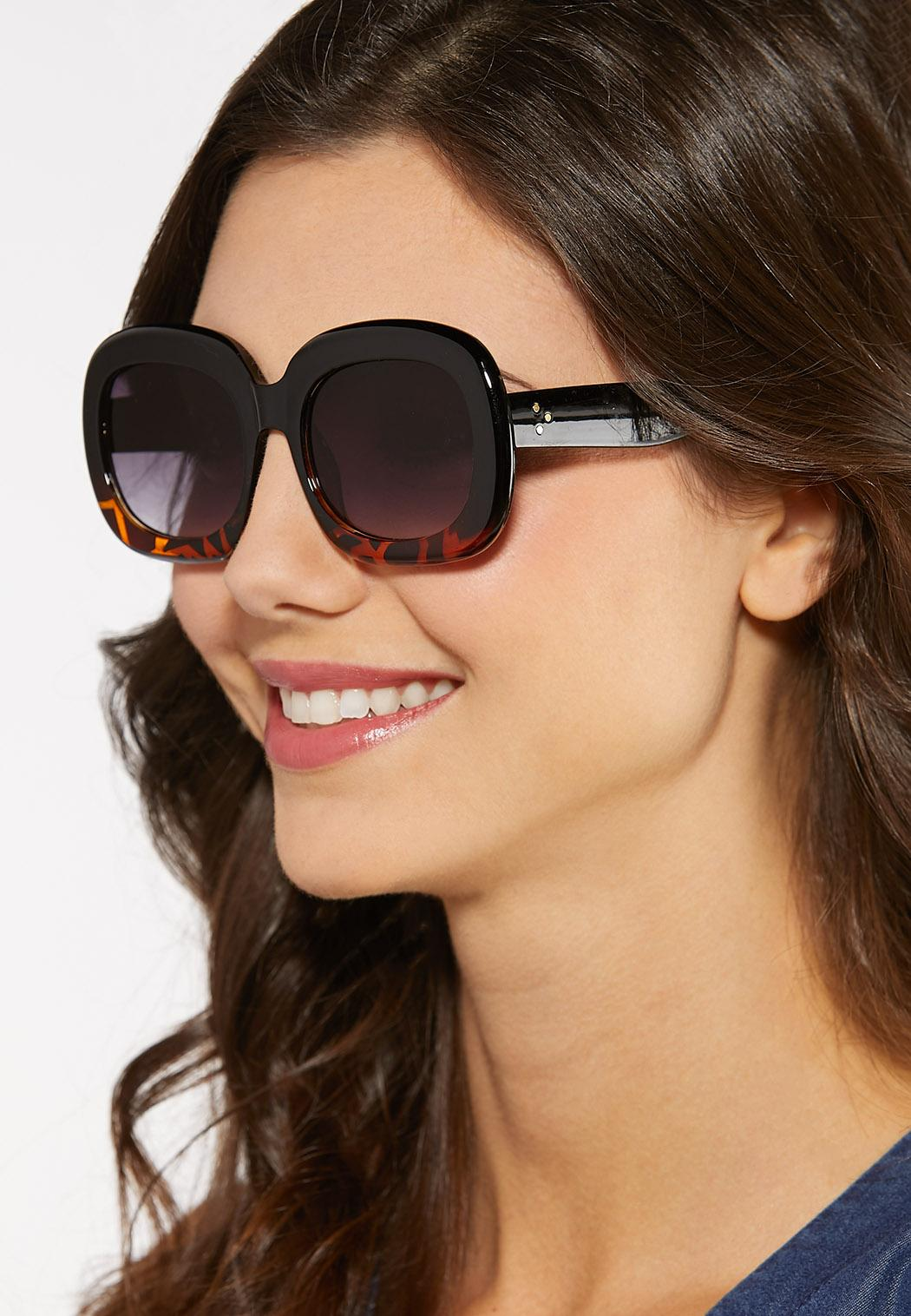 Tort Bottom Square Sunglasses (Item #44185361)