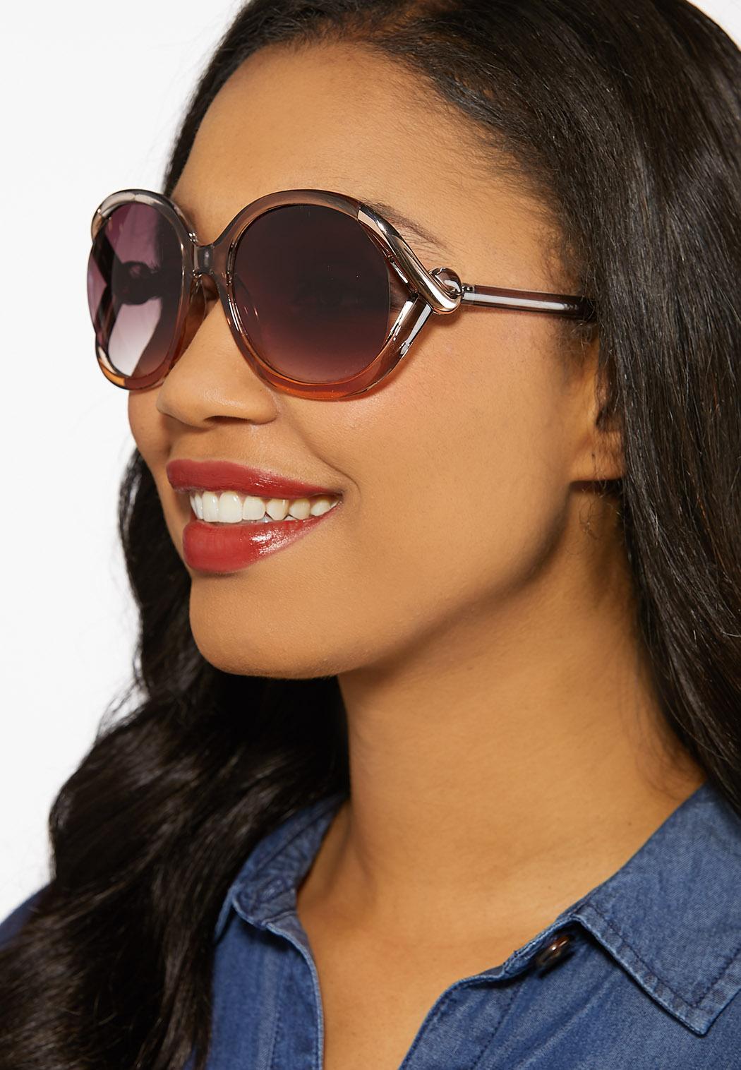 Lucite Vented Round Sunglasses (Item #44185364)
