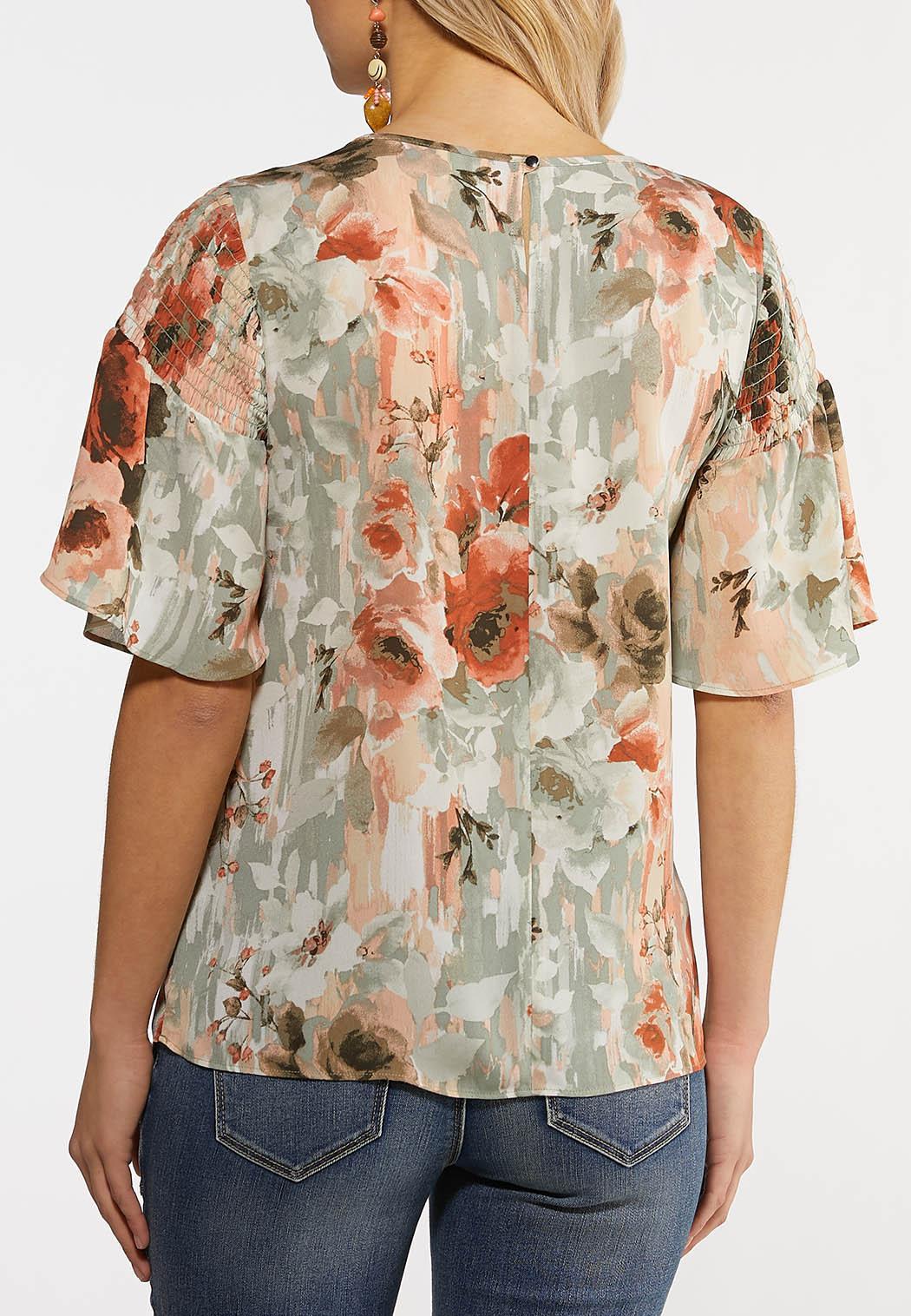 Plus Size Enchanted Floral Top (Item #44185488)