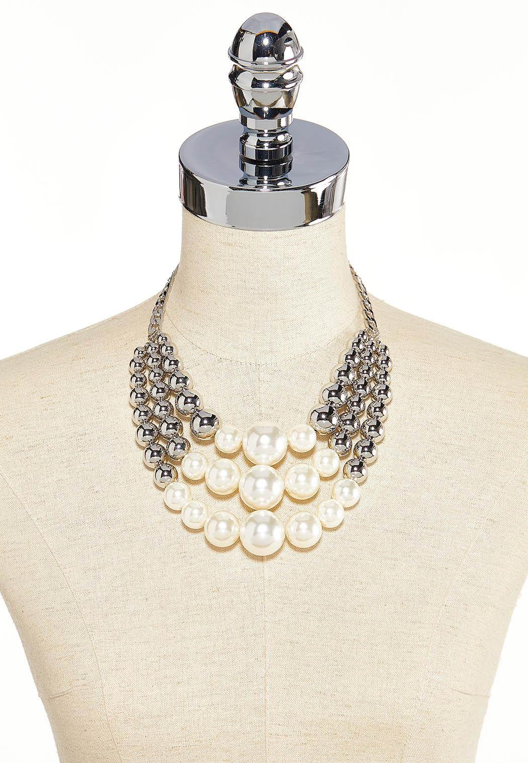 Triple Strand Pearl Necklace (Item #44185550)