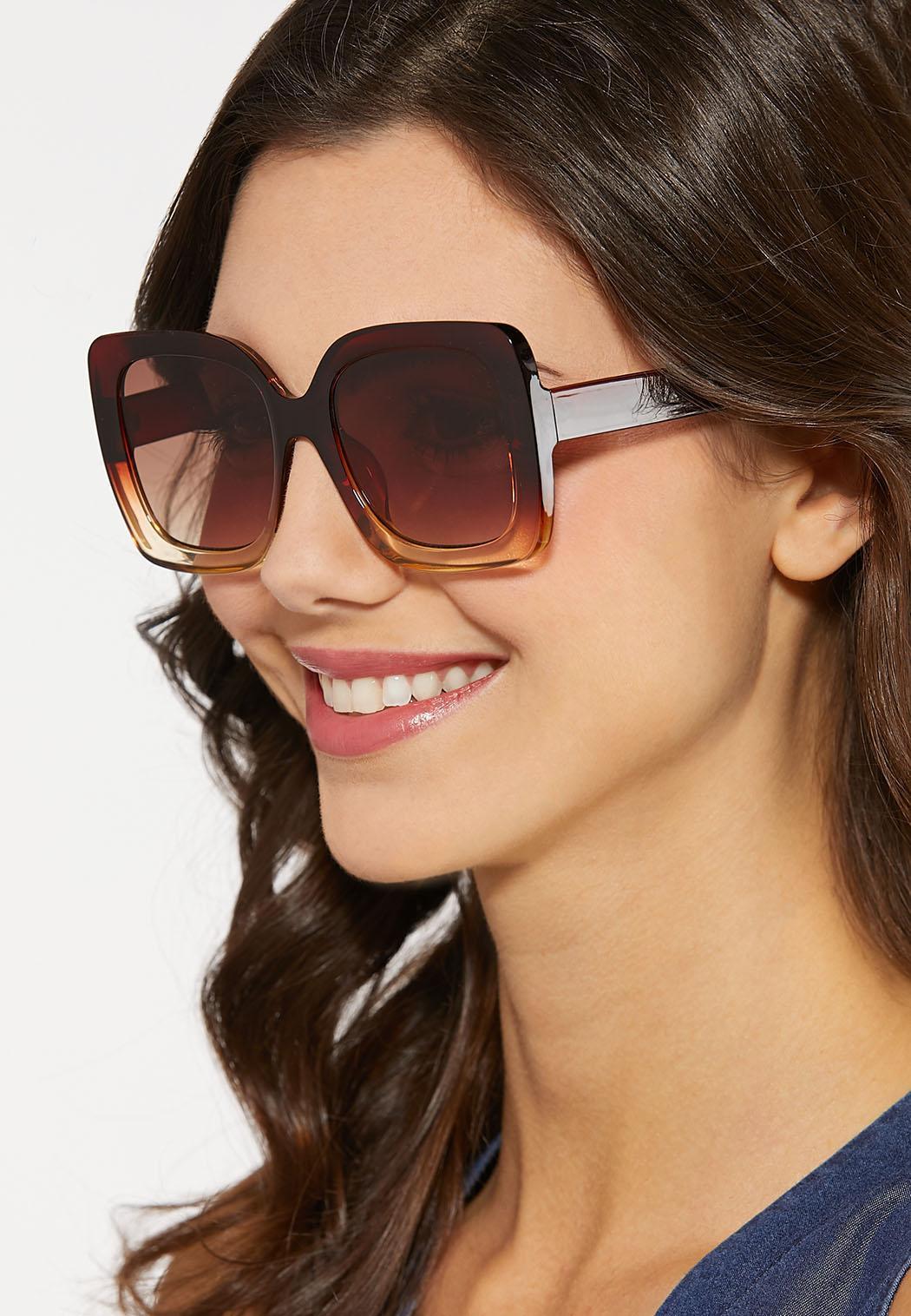 Ombre Lucite Square Sunglasses (Item #44185716)