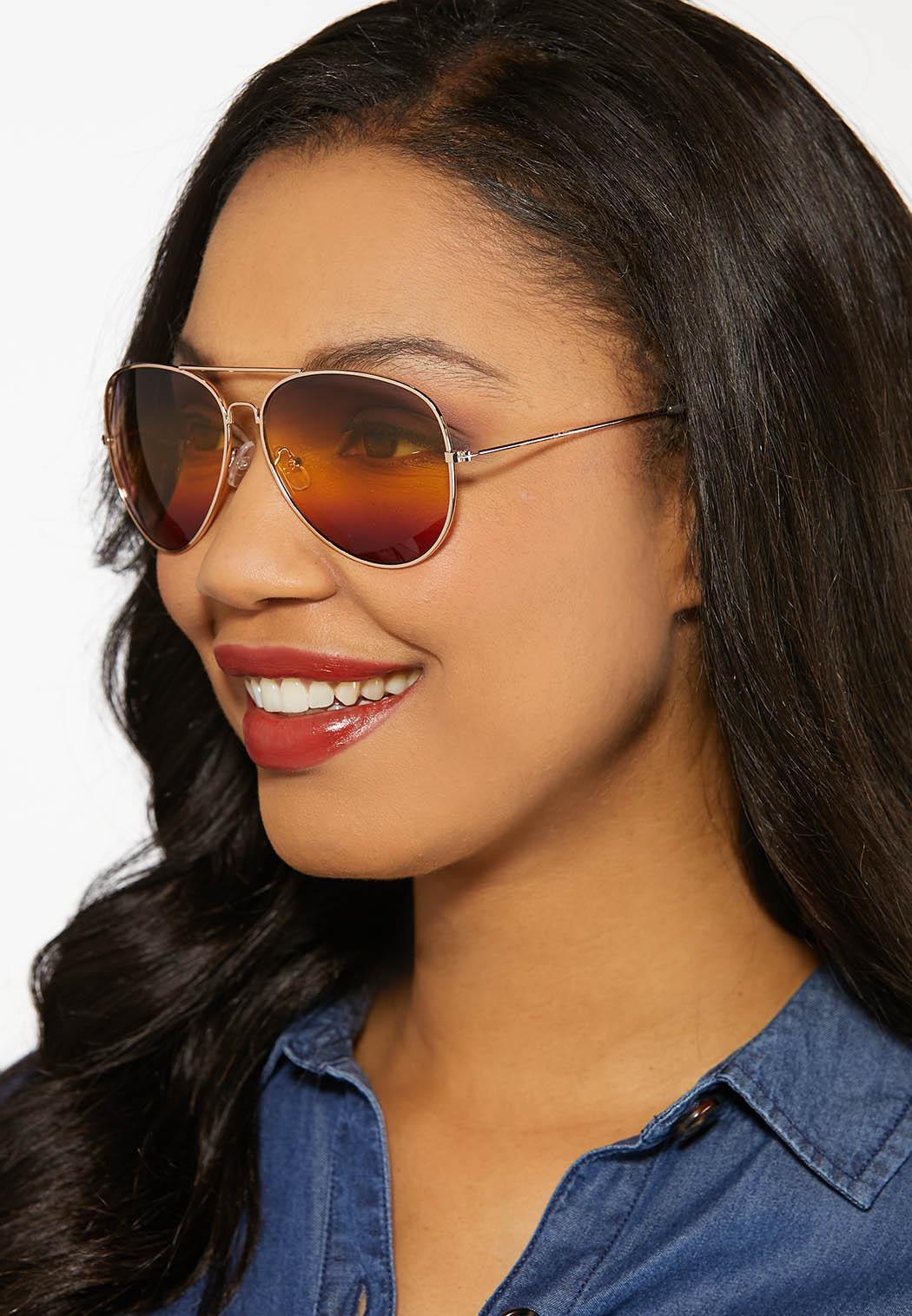 Ombre Aviator Sunglasses (Item #44185791)