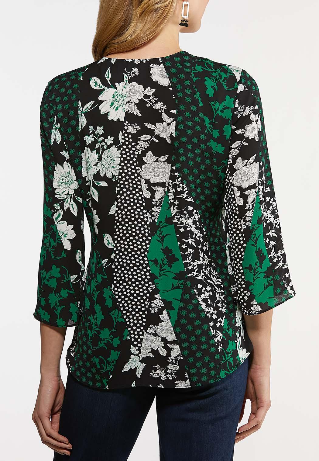 Mixed Floral Wrap Top (Item #44186517)
