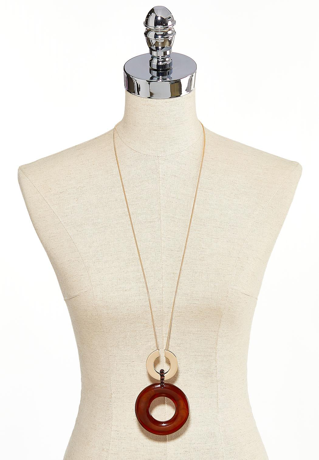 Oversized Multi Ring Pendant Necklace (Item #44186581)
