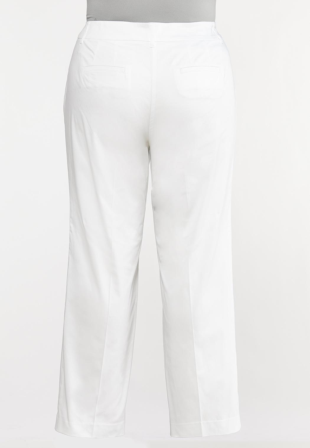 Plus Size Sateen Trouser Pants (Item #44187483)