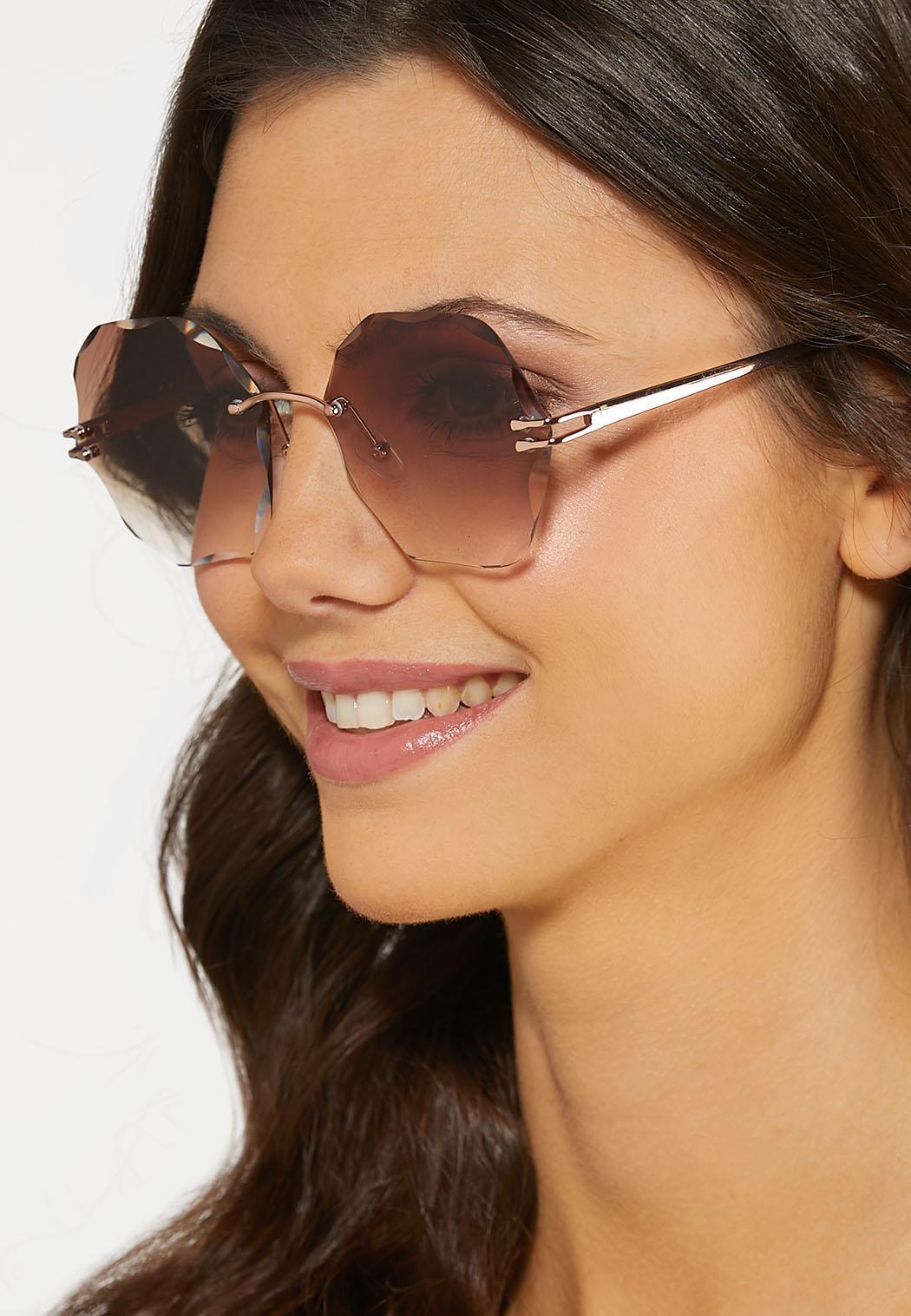 Beveled Round Sunglasses (Item #44187594)