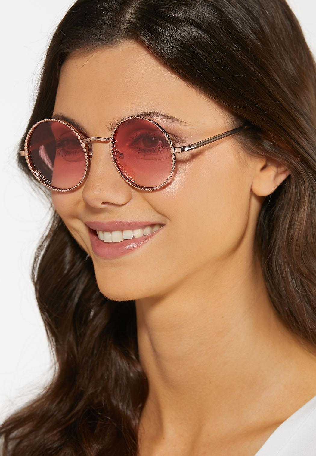 Beaded Frame Round Sunglasses (Item #44187839)