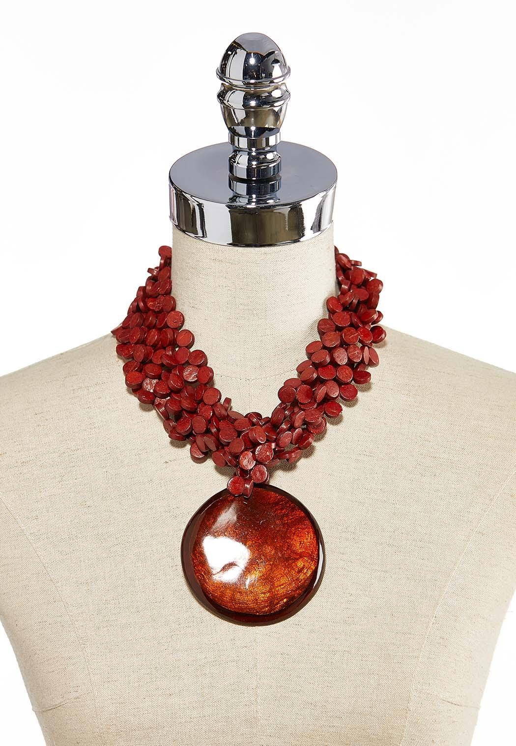 Chunky Layered Pendant Necklace (Item #44187903)