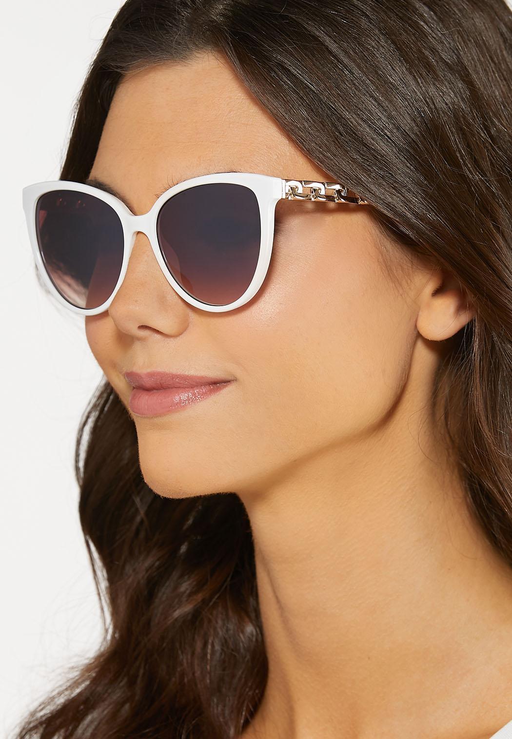 Chain Arm White Sunglasses (Item #44187970)