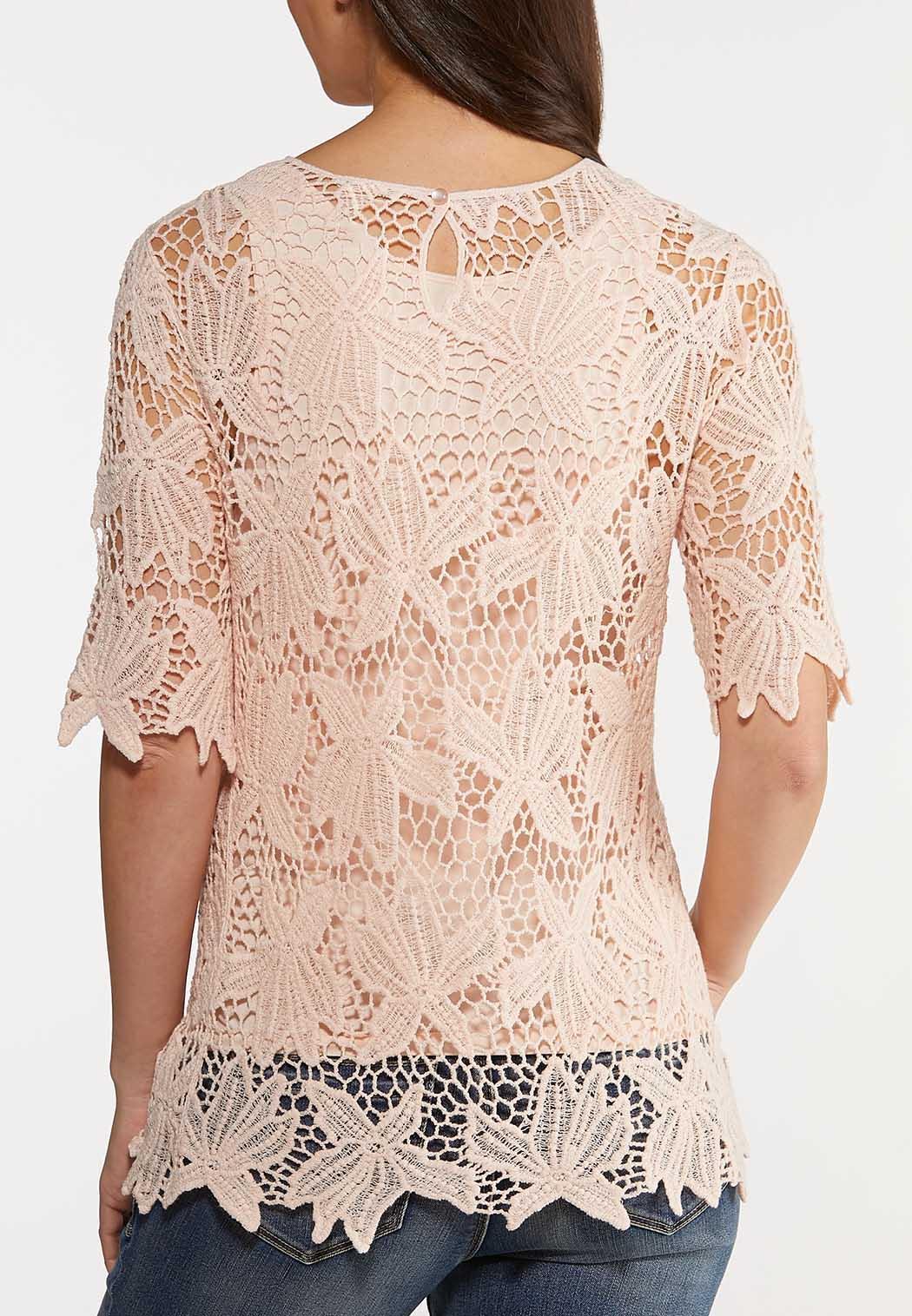 Pale Blush Crochet Top (Item #44188099)