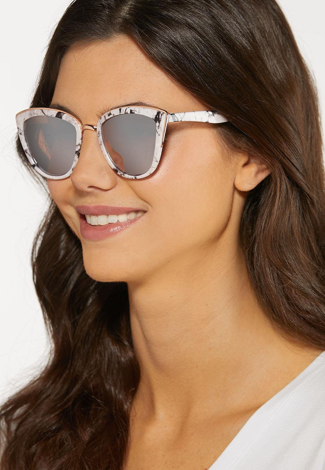 Marbled Mirror Lens Sunglasses (Item #44188404)