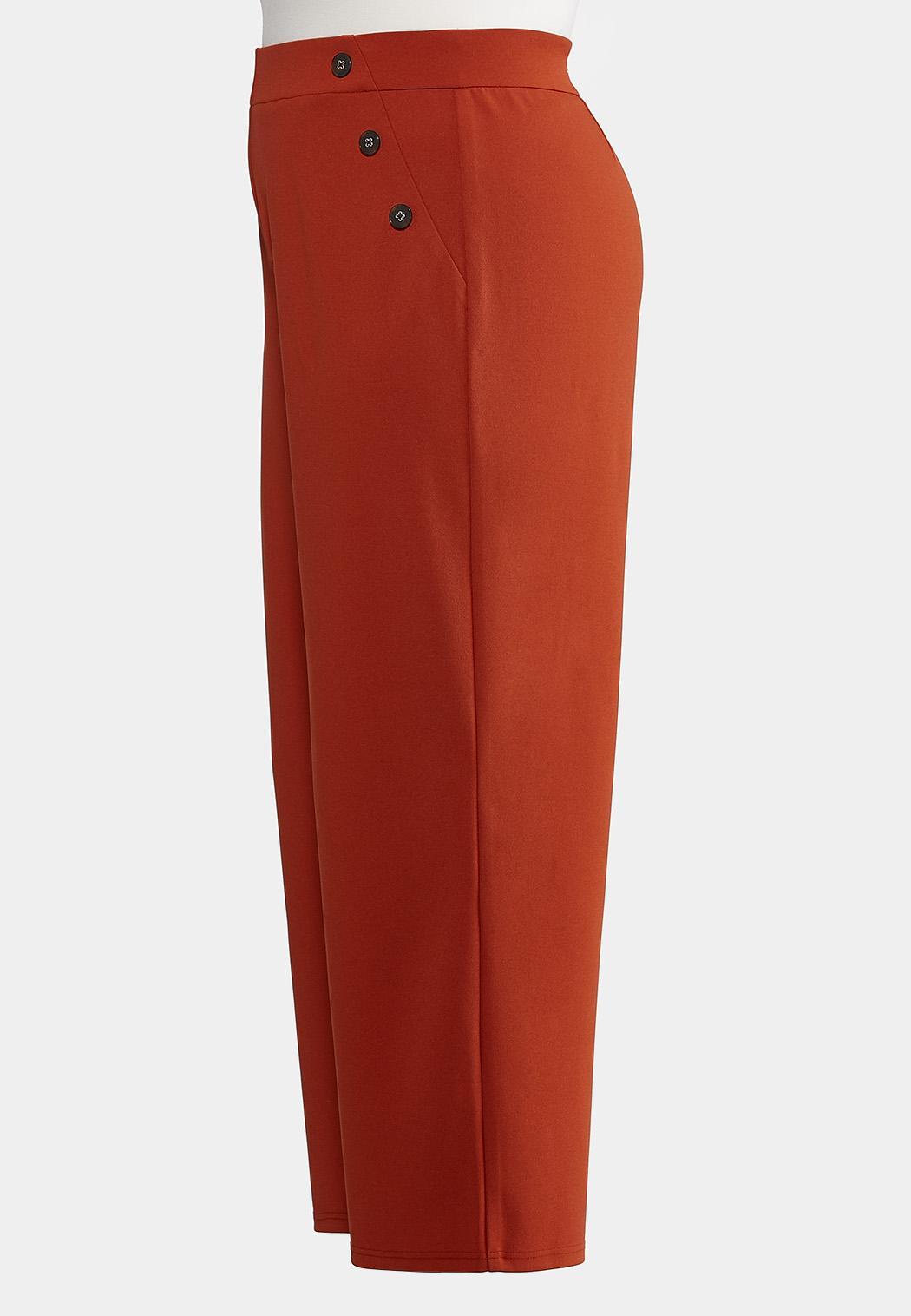 Plus Size High-Rise Trouser Pants (Item #44188705)
