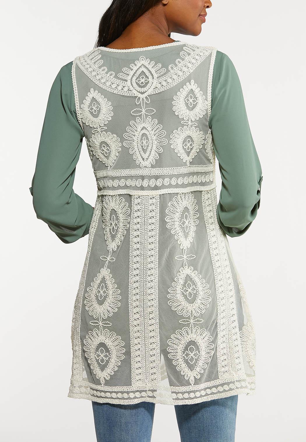 Plus Size Boho Crochet Vest (Item #44188753)