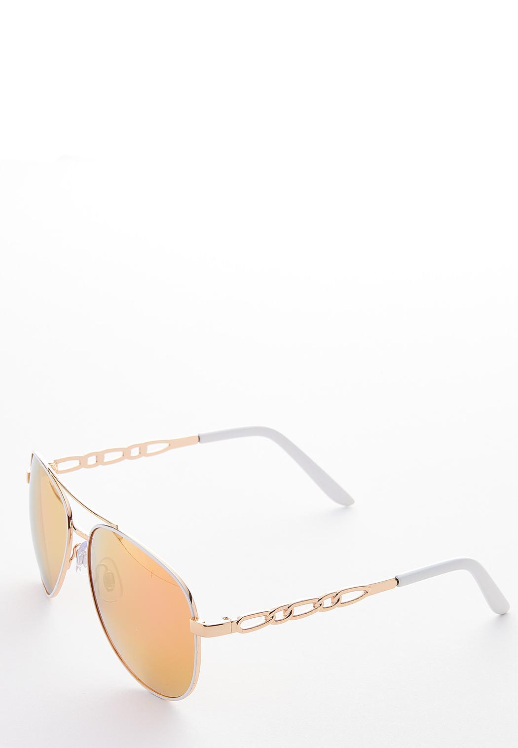 White Aviator Sunglasses (Item #44188801)