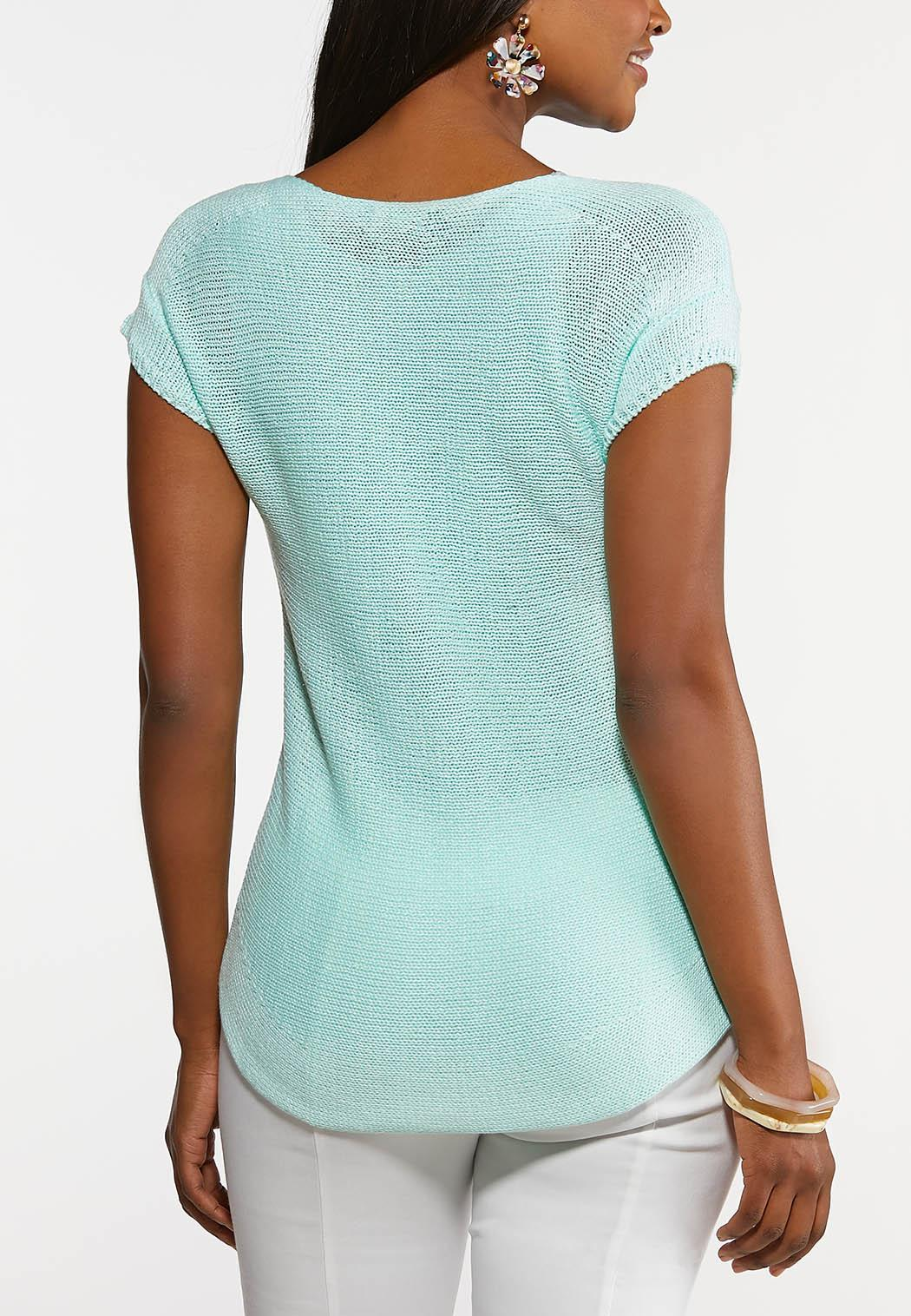 Plus Size Mint Pullover Sweater (Item #44189579)