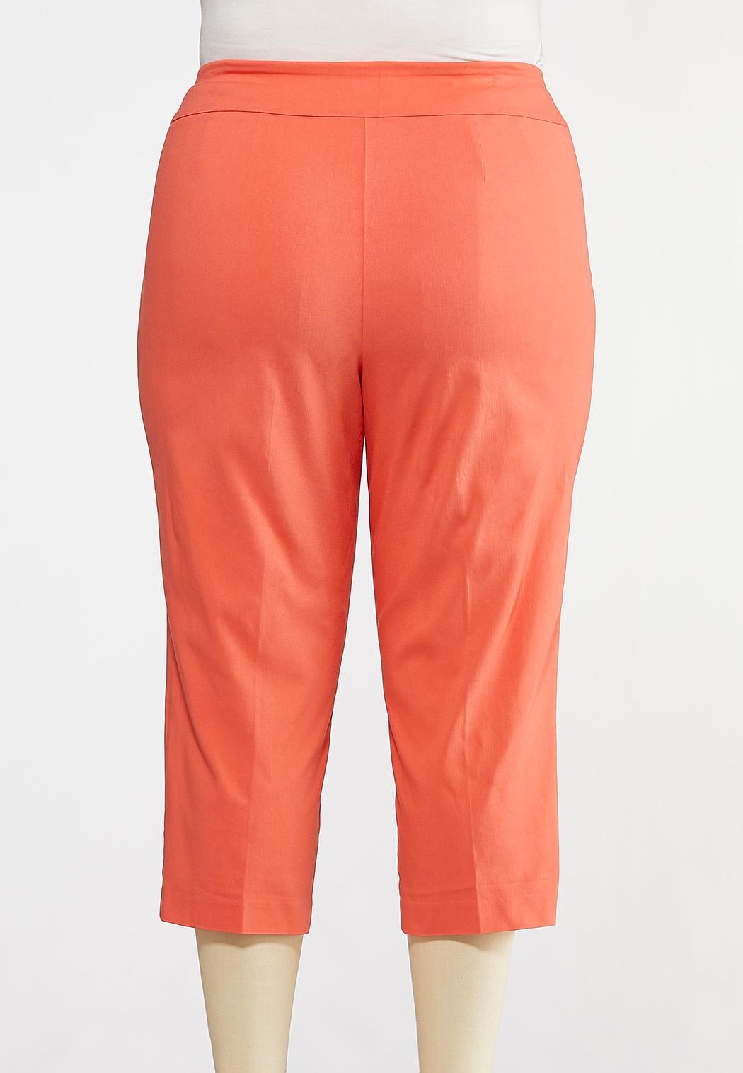 Plus Size Cropped Coral Sailor Pants (Item #44190650)