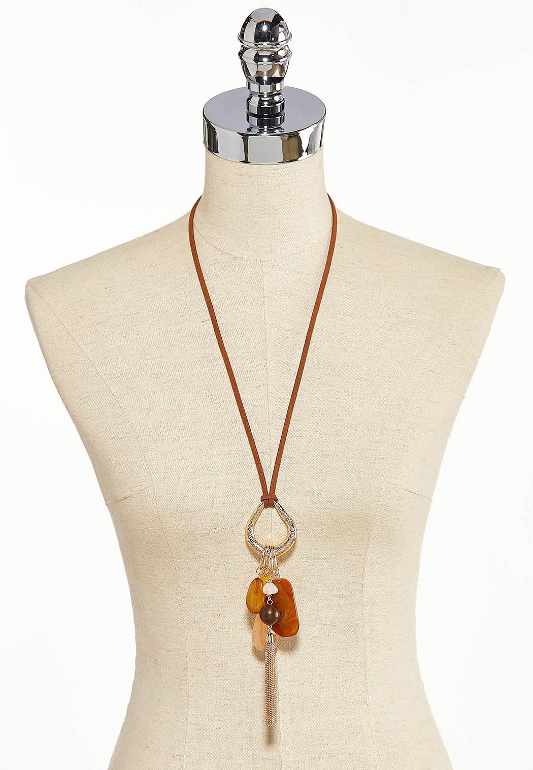 Cluster Pendant Tassel Necklace (Item #44190730)