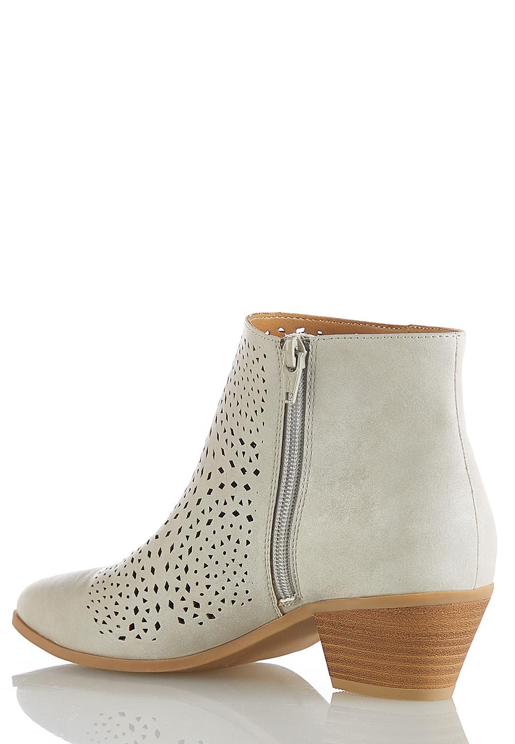 Laser Cut Ankle Boots (Item #44191071)