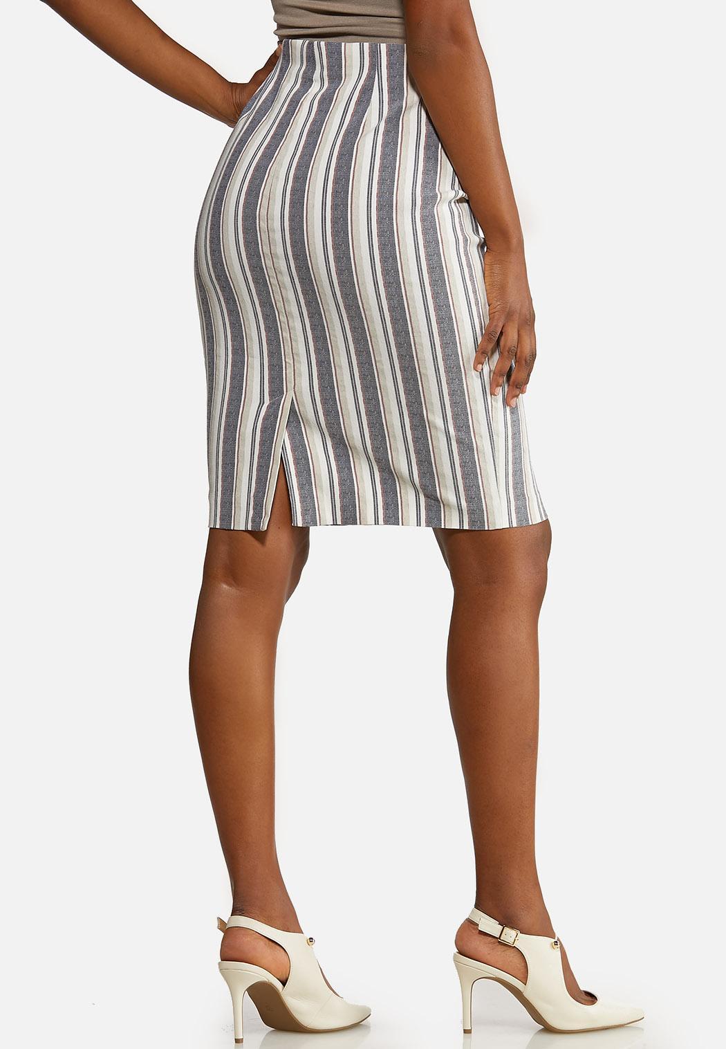 Stripe Pencil Skirt (Item #44193468)