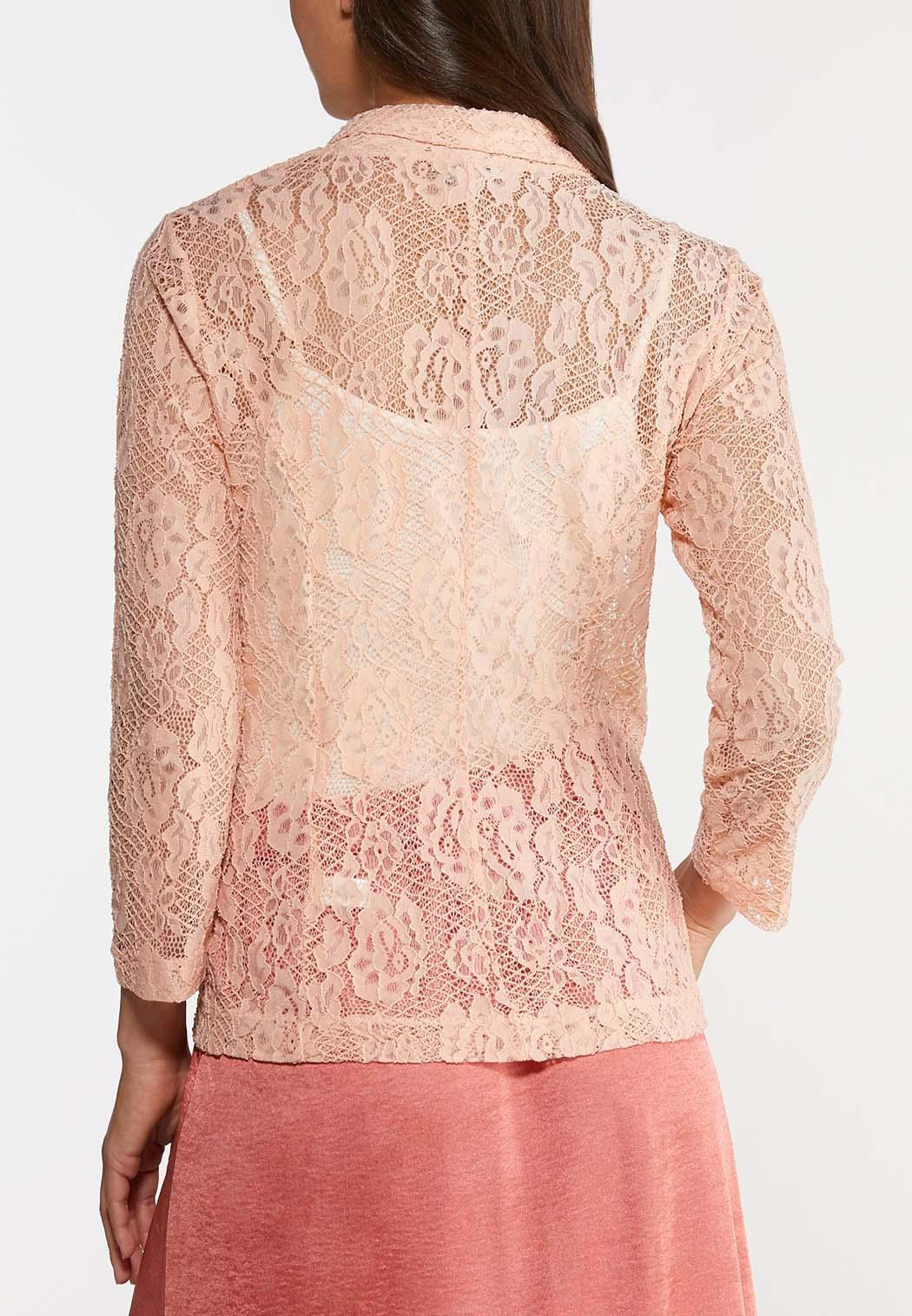 Plus Size Blush Lace Jacket (Item #44193768)
